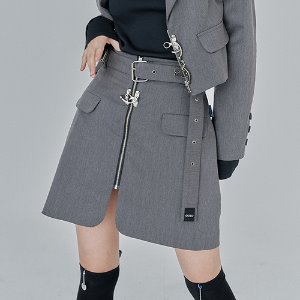 SUIT SKIRT_gray