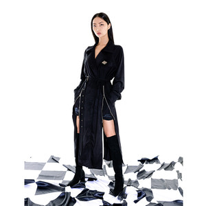freewill trench coat_black