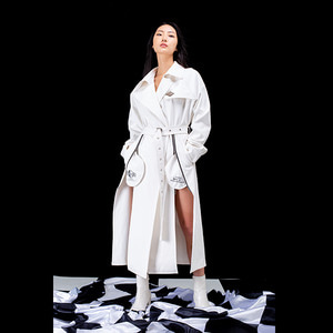 freewill trench coat_white