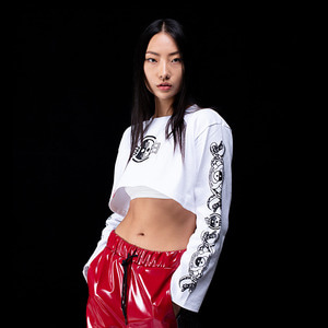 freewill sleeve crop top_white